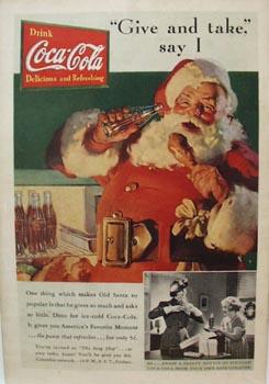 Coca-Cola Christmas Ad 1937