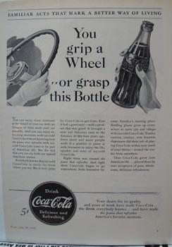Coca-Cola Grip A Wheel Ad 1940