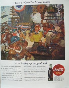 Coca-Cola Ahoy, Mates Ad 1944