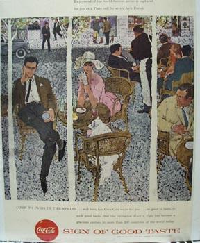Coca-Cola At Paris Caf Ad 1957