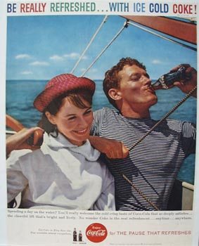 Coca-Cola Day On The Water Ad 1959