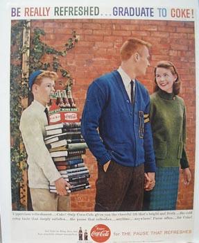 Coca-Cola Graduate to Coke Ad 1959