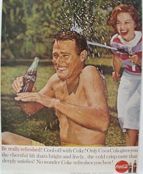 Coca-Cola & Water Hose Ad 1960