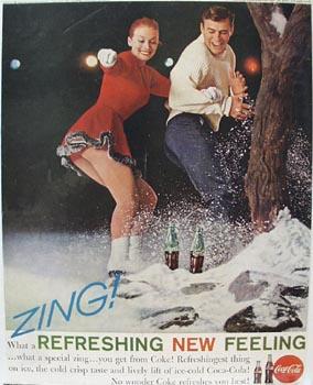 Coca-Cola Ice Skating Ad 1961