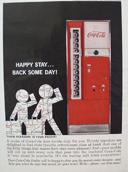 Coca-Cola Happy Stay Ad 1962