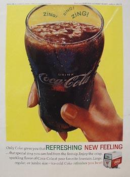 Coca-Cola Glass in Hand Ad 1962