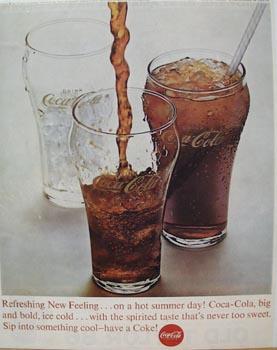 Coca-Cola Three Glasses Ad 1963