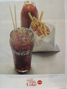Coca-Cola & French Fries Ad 1965
