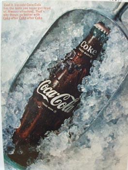 Coca-Cola Scoop of Ice Ad 1966