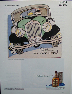 Chivas Whiskey & Fathers Day Ad 1989