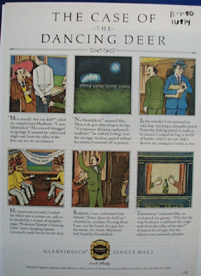 Glenfiddich Malet Case of Dancing Deer Ad 1980