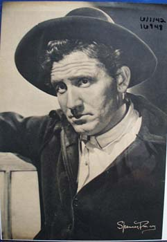 Black and white photograph of Spencer Tracy