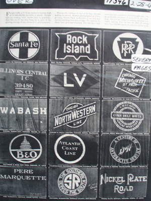 Emblems of Railroads Article 1944