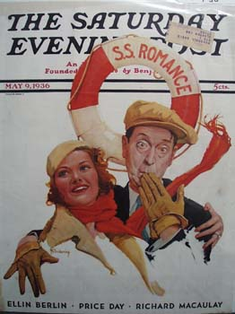 Saturday Evening Post Front Cover 1936