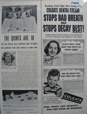 Dionne Quints Are 18 Article 1952