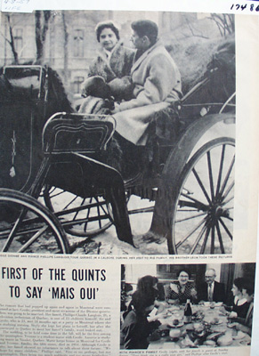 Cecile Dionne & Fiance Article 1957