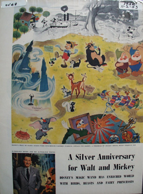 Disney & Mickey Silver Anniversary Article 1953