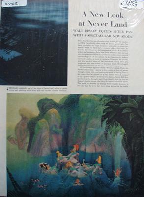 Walt Disney 's Never Land Article 1953