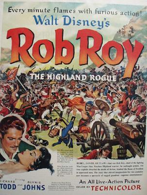 Disney Rob Roy Movie Ad 1954