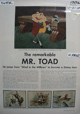 Disney Mr. Toad Article 1949