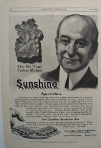 Sunshine Biscuit Father Makes Pie Ad 1914