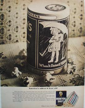 Morton's Salt & America's Eight Year Old Ad 1965