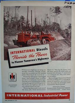 International diesels provide the power. Ad