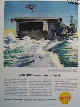 Shell 200,000 seahorses at work Ad 1958.