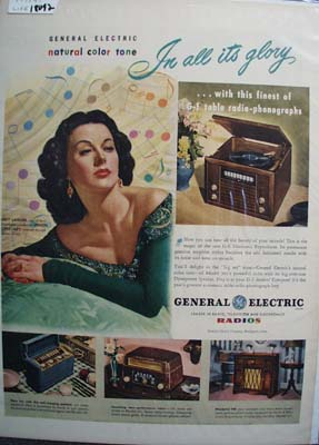 Hedy LaMarr & General Electric Ad 1947