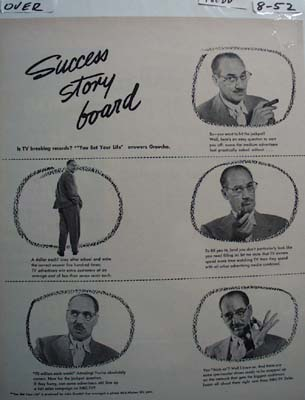 Groucho Marx Success Story Ad 1952