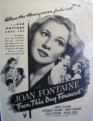 Black and white 1946 ad of From This Day Forward