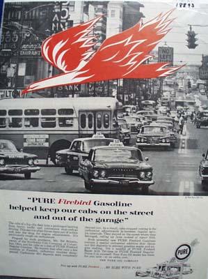 Pure firebird gasoline Ad 1961.