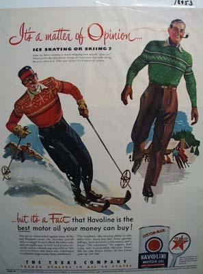 Texaco Havoline best motor oil for you money Ad 1951.