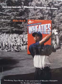 Tiger Woods & Wheaties Ad 1998