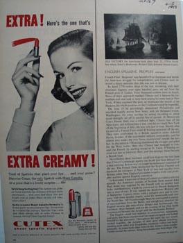 Cutex sheer lanolin lipstick Ad 1957.