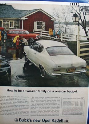 Buick How To Be a Two-Car Family Ad 1966