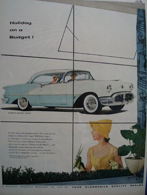 Oldsmobile Holiday on a Budget Ad 1956