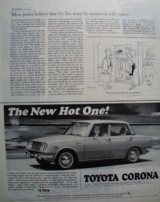 Toyota Corona The New Hot One Ad 1966