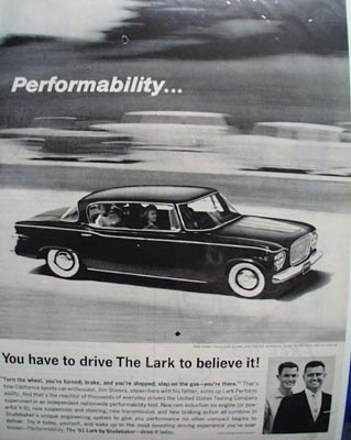 Studebaker Performability Ad 1960