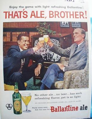 Ballantine Ale That's Ale Brother Ad 1956