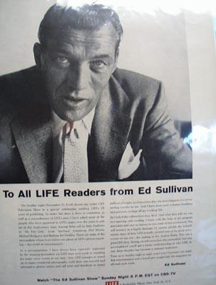 Ed Sullivan Salute to Life Magazine 1956