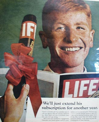 Life Magazine Boy With Freckles Ad 1965