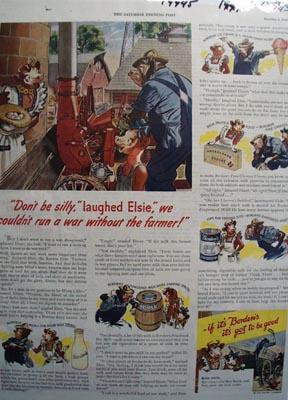Borden's Run a War Ad 1943