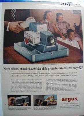 Argus Never Before Ad 1956