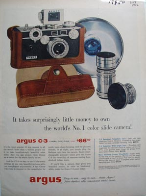 Argus Little Money to Own Ad 1956