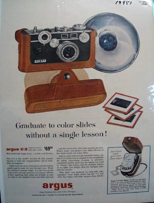 Argus Graduate to Color Slides Ad 1956