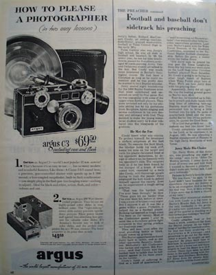 Argus How To Please Photographer Ad 1952