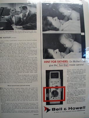Bell & Howell Hint For Fathers Ad 1957