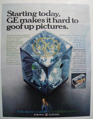 GE Hard to Goof Up Pictures Ad 1968
