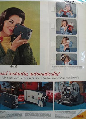 Kodak Load Instantly Christmas Ad 1965
